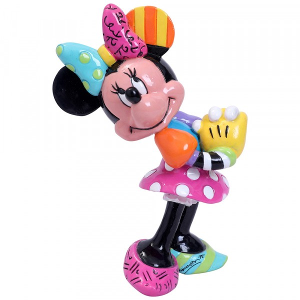 Romero Britto, Pop-Art aus Miami, Blushing Minnie Mouse, errötende Minnie Maus Minifigur