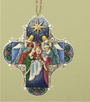 Heartwood Creek, Jim Shore, Nativity Cross Ornament, Anhänger