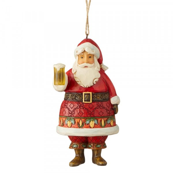 Heartwood Creek, Jim Shore, Craft Beer Santa, Weihnachtsmann mit Bierkrug, Ornament, Anhänger