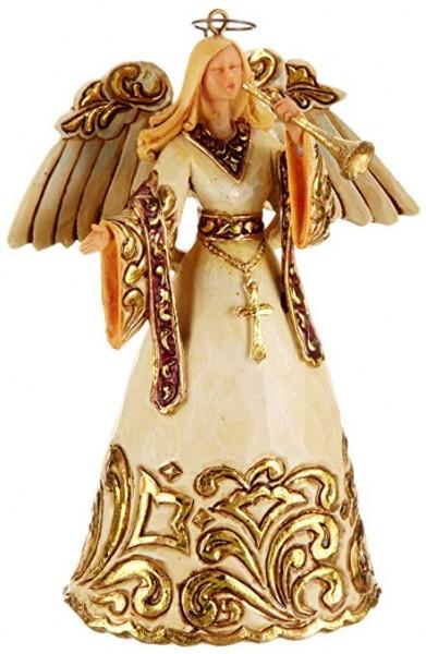 Ivory & Gold Angel Ornament