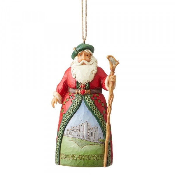 Heartwood Creek, Jim Shore, Around the World, Irish Santa, Irischer Weihnachtsmann, Ornament, Anhänger
