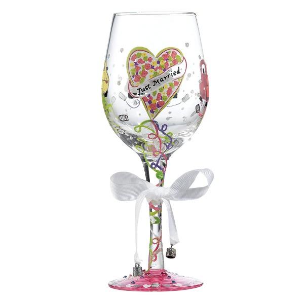 Lolita Weinglas, Wine Glass, Just Married