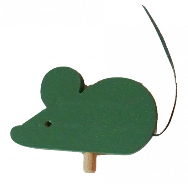 Sebastian Design, Candlering, Kerzenring, Kerzeringe, Holzkränze, Skandinavischer Holzkranz, Skandinavische Kerzenringe, Maus in grün