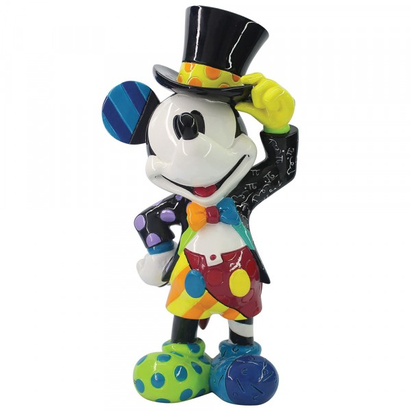 Romero Britto, Pop-Art aus Miami, Mickey Mouse with Top Hat, Micky Maus mit Zylinder