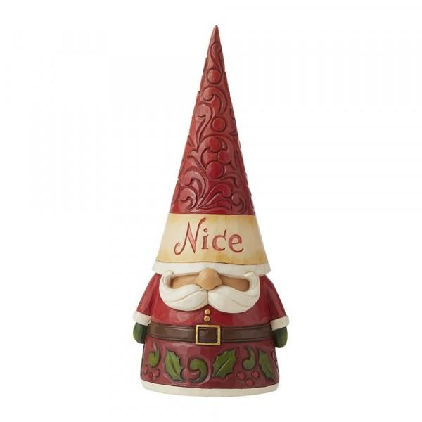 Jim Shore, Heartwood Creek, Jim Shore Gnome, Heartwood Creek Gnomes, Jim Shore Wichtel, 6009185, Naughty / Nice Two Sided Gnome, Artig und unartiger Wichtel