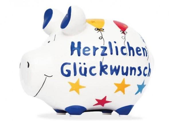 KCG Sparschweine, Best of Sparschwein, das Markenschwein, Kleinschwein, Sparschwein, Spardose, Sparbüchse, Wir sind das Schwein, Sparschwein Herzlichen Glückwunsch, Herzlichen Glückwunsch Schwein 101635, Geldgeschenk