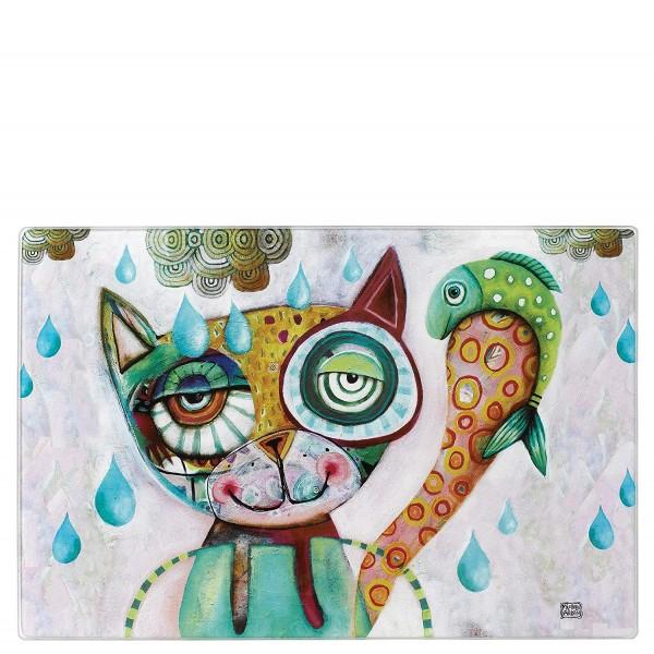 Allen Designs Glasschneidebrett Katze