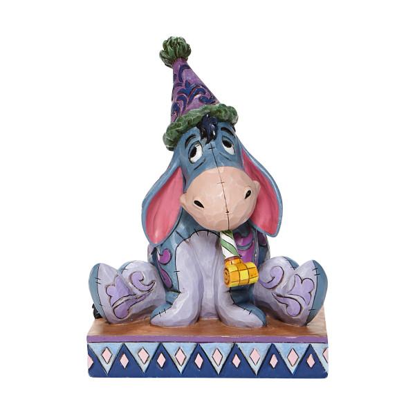 Disney Traditions, Jim Shore, Jim Shore Disney, Jim Shore Disneyfigur, Jim Shore Disney Figur, Birthday Blues, Eeyore with Birthday Hat, I-Aah mit Partyhut, Winnie the Pooh, Winnie Puuh, 6008074, A.A. Milne