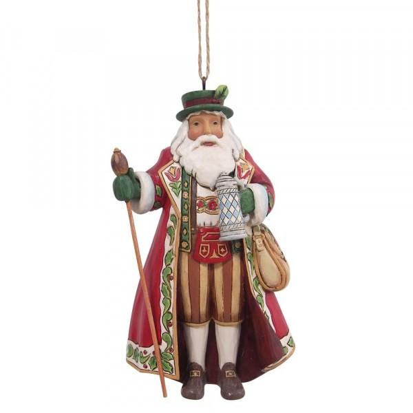 Jim Shore, Heartwood Creek, Jim Shore Weihnachten, 6009461, German Santa Ornament, Deutscher Weihnachtsmann Weihnachtsanhänger, Around the World Collection, Jim Shore Weihnachtsmann, Heartwood Creek Weihnachtsmann