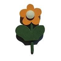 Blume mit Blatt orange, f. kl. Ring