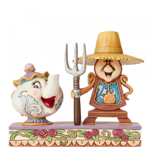 Disney Traditions, Jim Shore - Workin Round The Clock Mrs. Potts & Cogsworth, Mrs. Potts & Herr von Unruh