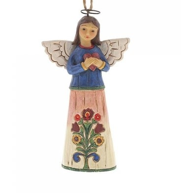 Heartwood Creek, Jim Shore, Folklore Angel with Heart Ornament, Engel mit Herz, Anhänger