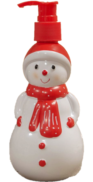Widdop, The North Pole Novelties by Santa's Workshop, Flüssigseife im Spender, weihnachtliche Seife, Schneemann-Seifenspender, Seifenspender, XM8501, XM8501a