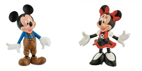 Bullyland, Micky in Lederhose, Minnie im Dirndl, Oktoberfest, Mickey, Minnie