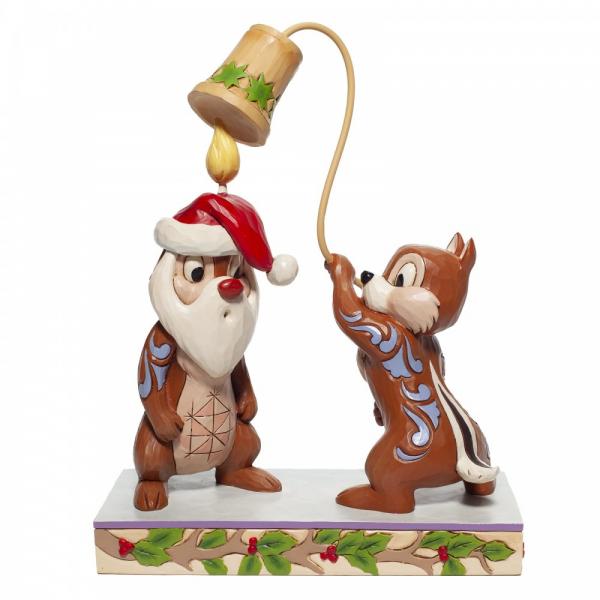 Disney Traditions , Jim Shore, Christmas Chip 'n Dale, Chip und Chap feiern Weihnachten, 6007070