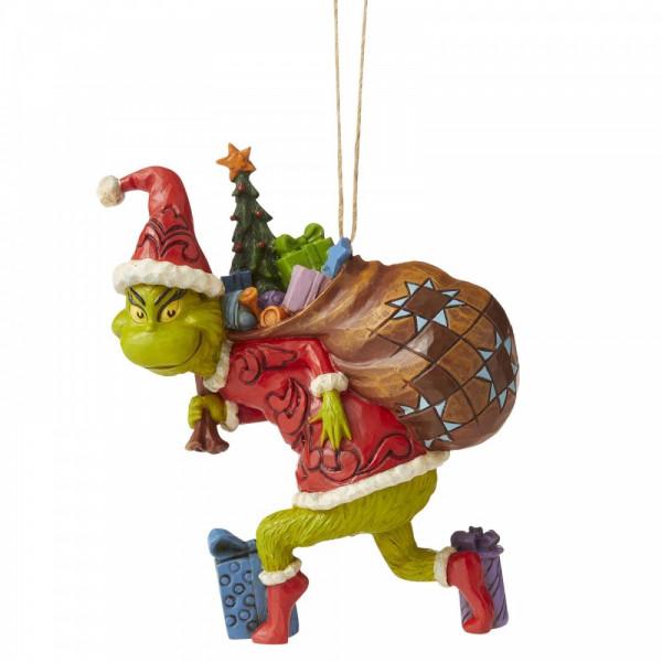The Grinch, Der Grinch, Grinch, Jim Shore, Heartwood Creek, Dr. Seuss, Grinch Dressed as Santa, Grinch als Weihnachtsmann, Grinch Tiptoeing, 6006572