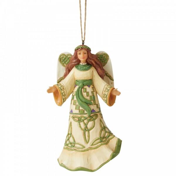 Heartwood Creek, Jim Shore, Irish Angel Ornament, Irischer Engel, Anhänger, Weihnachtsanhänger, Tannenbaumanhänger, Christbaumanhänger