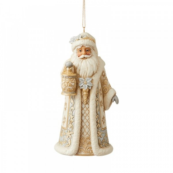 Jim Shore, Heartwood Creek, Jim Shore Weihnachten, Holiday Lustre Collection. 6009399, Holiday Lustre Santa Ornament, Jim Shore Weihnachtsmann, Jim Shore Santa