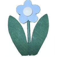 Blume hellblau für Kerzenring groß