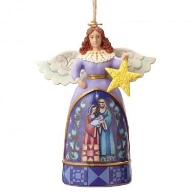 Heartwood Creek, Jim Shore - Mini Angel with Star Ornament, Engel mit Stern, Anhänger