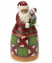 Heartwood Creek, Jim Shore, Christmas Cheer is Here, Weihnachtsmann mit Katze