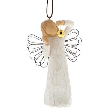 Willow Tree, Willowtree, Demdaco, Susan Lordi, Angel of Wonder Ornament, Engel der Wunder Weihnachtsanhänger