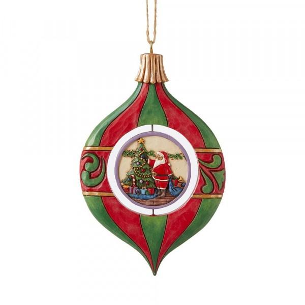 Jim Shore, Heartwood Creek, Jim Shore Weihnachten, ND6009192, Ornament Shaped Hanging Ornament, Weihnachtskugel Ornament, Jim Shore Weihnachtsmann, Jim Shore Santa, Heartwood Creek Santa, Heartwood Creek Weihnachtsmann