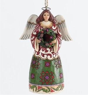 Heartwood Creek, Jim Shore, Angel with Wreath Ornament, Engel mit Kranz, Anhänger