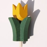 Tulpe gelb für Kerzenring groß