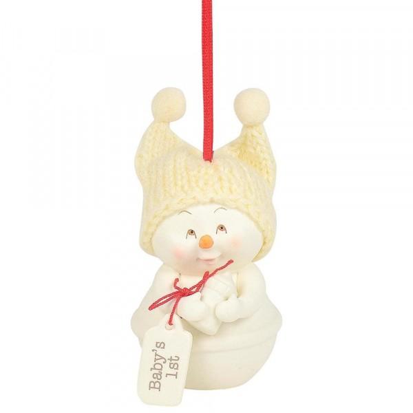 Kristi Jensen Piero, Snowpinions, Snowbabies, Department 56, Schneemann, Ornament, Anhänger, Baby's 1st Ornament, 6003283
