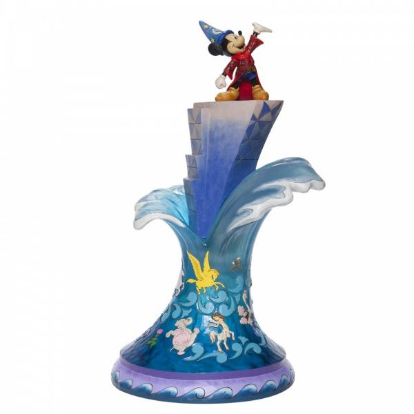 Disney Traditions , Jim Shore, Summit of Imagination, Gipfel der Phantasie, Mickey Sorcerer, Micky als Zauberer, Disneyfigur, Disney Figur, Folkart, Volkskunst, 6007053
