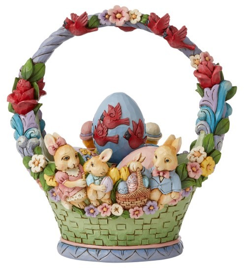 Jim Shore, Heartwood Creek, Jim Shore Heartwood Creek, Jim Shore Gnome, 6008810, Easter Cheer Found Here Easter Basket, Jim Shore Osterkorb, Jim Shore Ostern, Heartwood Creek Ostern