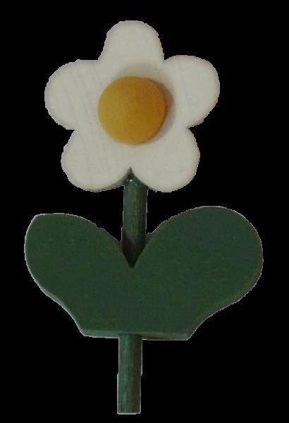 Sebastian Design, Kerzenring, Kerzenringe, Holzkränze, Candlering, skandinavische Kerzenringe, Blume mit Blatt, weiß