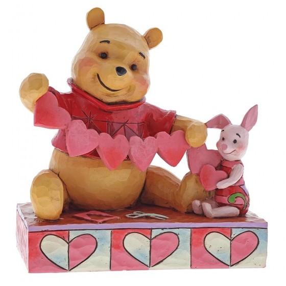 Disney Traditions, Jim Shore - Handmade Valentines / Winnie Pooh & Piglet, Enesco 4059746