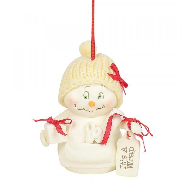 Kristi Jensen Piero, Snowpinions, Snowbabies, Department 56, Schneemann, Ornament, Anhänger, It's A Wrap, 6003279