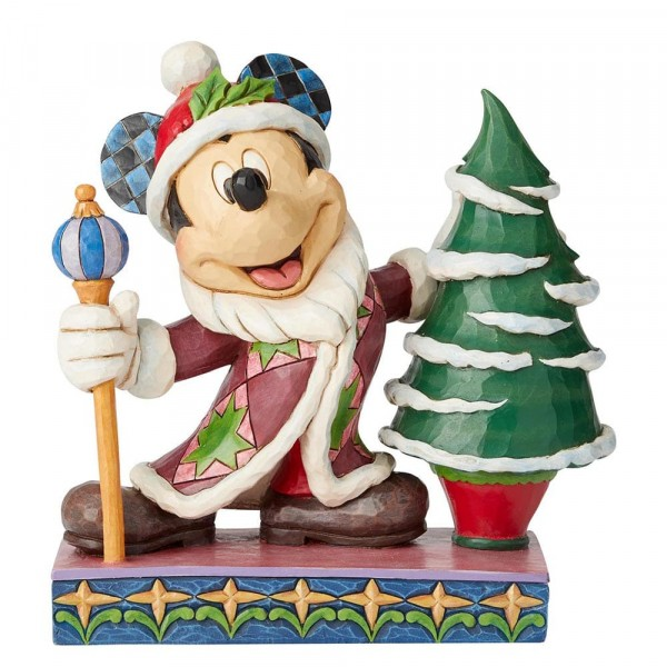 Disney Traditions, Jim Shore - Jolly Old St. Mick, Mickey Mouse Father Christmas, Micky als Weihnachtsmann