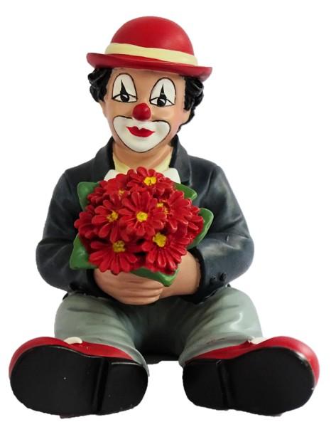 Gilde Handwerk, Gilde Clowns, Florius sitzend mit roten Blumen