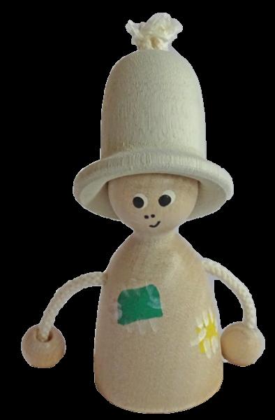 Sebastian Design, Kerzenringe, Steckfiguren, Holzkränze, Vogelscheuche mit weißem Hut