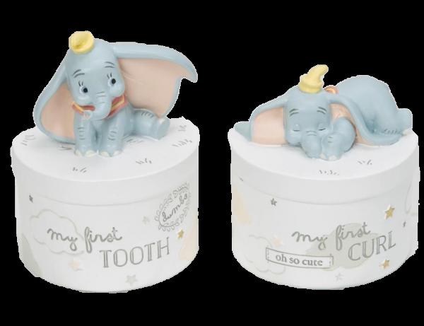 Widdop, Disney, Walt Disney, Widdop and Co, Disney Magical Beginnings, Dumbo Zahn- und Lockendose, Dumbo Tooth & Curl Pots, DI656
