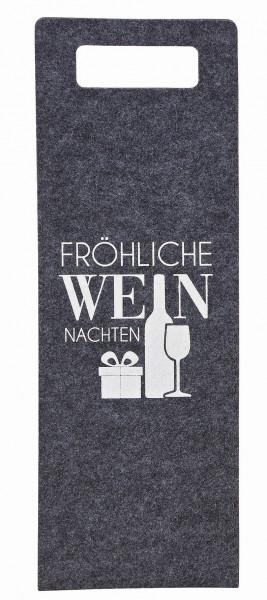 Lolita Gläser, Lolita Weingläser, Flaschentasche, Geschenktasche Filztasche, Fröhliche Weinnachten, 10029071