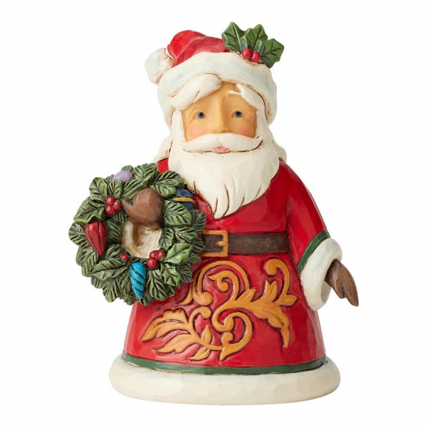 Heartwood Creek, Jim Shore, Santa Holding Wreath, Weihnachtsmann mit Kranz