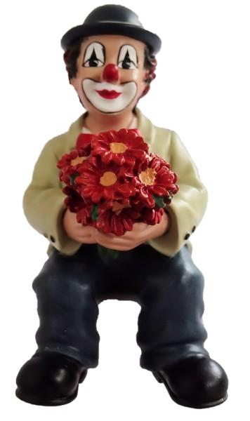 Gilde Handwerk, Gilde Clowns, Florius Kantenhocker mit roten Blumen