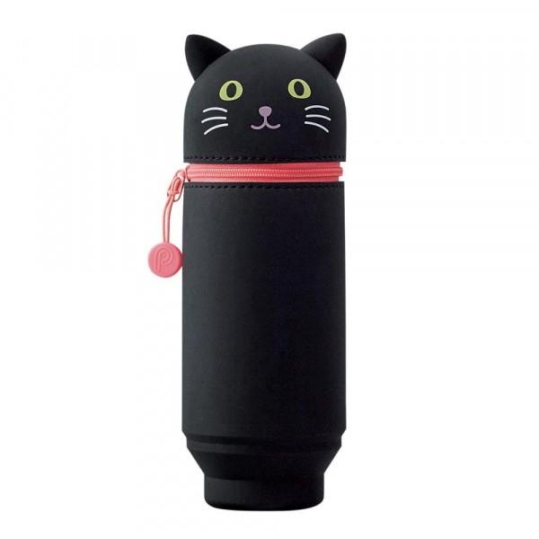 Lihit Lab, Punilabo, Stand Up Case, Stiftehalter, Federtasche, Schlampermäppchen, Schlamper, black cat, schwarze Katze