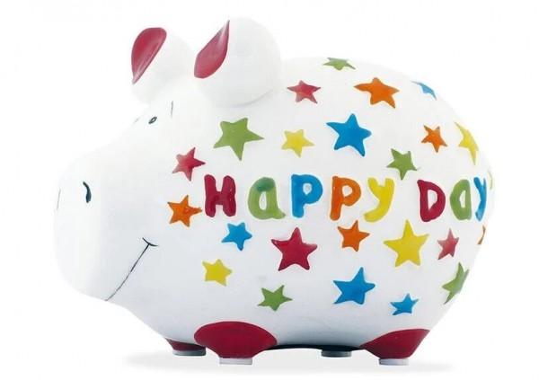 KCG Sparschweine, Best of Sparschwein, das Markenschwein, Kleinschwein, Sparschwein, Spardose, Sparbüchse, Wir sind das Schwein, Sparschwein Happy Day, 101568, Geldgeschenk