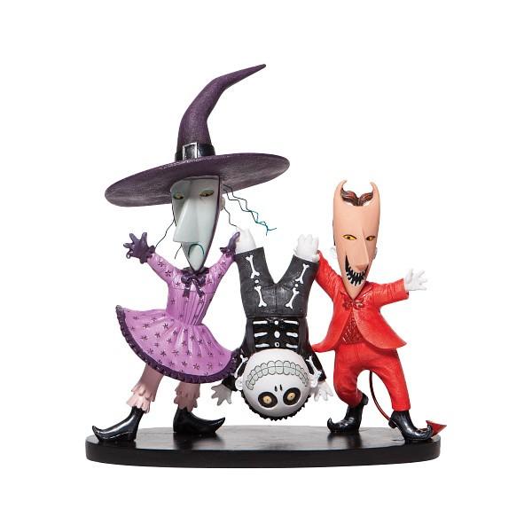 Disney Showcase, Disney Showcase Collection, 6006281, Lock, Shock & Barrel, Jack Skellington, Sally, Nightmare Before Christmas, Tim Burton