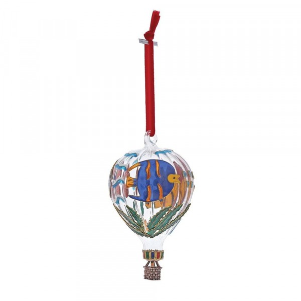 Enesco's Treasury of Ornaments, handbemalt, mundgeblasen, Hot Air Balloon, Heißluftballon, Glaskugel