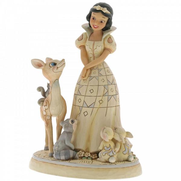 Disney Traditions, Jim Shore, Forest Friends Snow White, Disneyfigur, Disney Figur, Volkskunst, Folkart, Schneewittchen, White Woodland, 6000943