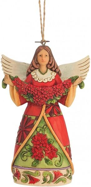 Heartwood Creek, Jim Shore, Poinsettia Angel Ornament, Engel, Anhänger, 4047795, Jim Shore Weihnachten