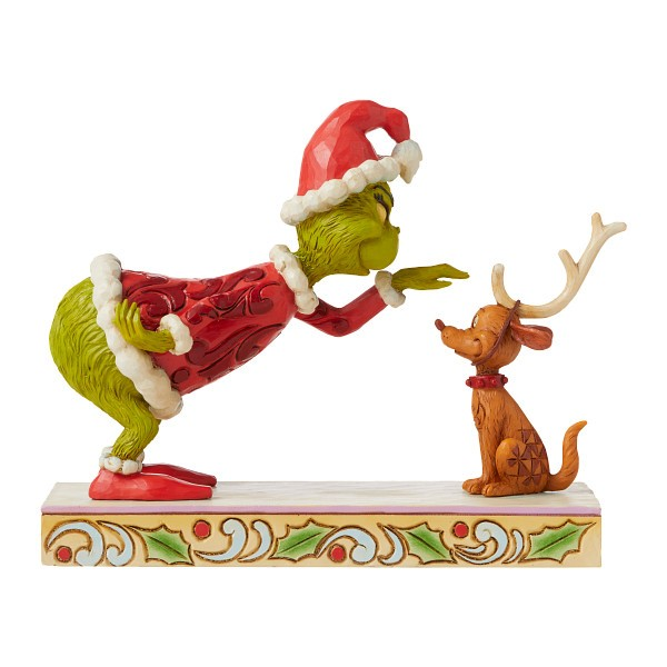 Jim Shore, Heartwood Creek, The Grinch Collection, Grinch, Grinch Patting Max, Grinch streichelt Max, 6008889, The Grinch by Jim Shore