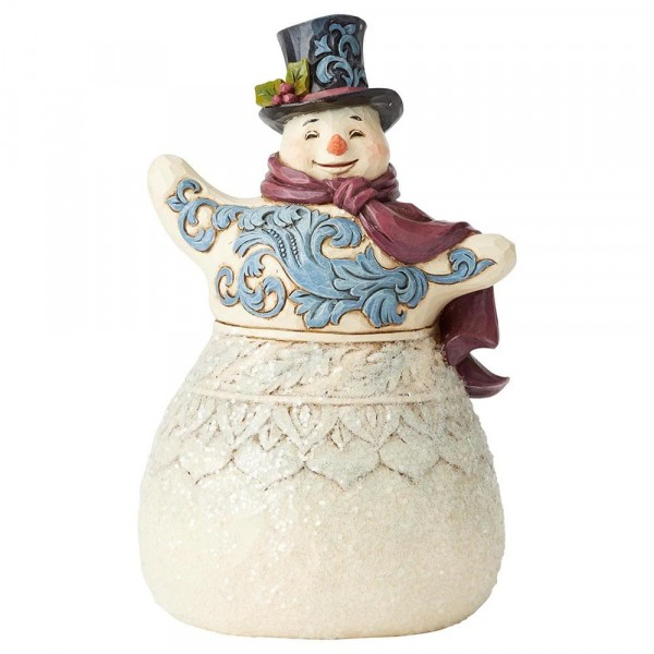 Heartwood Creek, Jim Shore, Frosty Formailty, Victorian Snowman with Top Hat, Schneemann